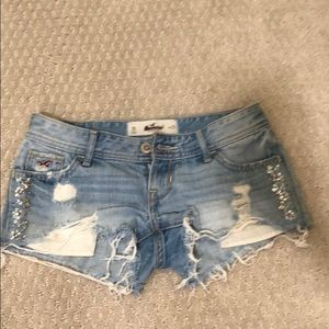 e65f425e2527 Hollister Cut Off Embellished Shorts. Never Worn!